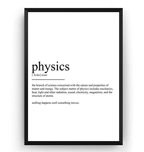 Physics Definition Print - Poster Wall Art Quote Typography Home - Frame Not Included