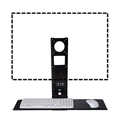 SDS iMount 4.0 Adjustable VESA Monitor & Keyboard Wall Mount System with Tilt & Fold-up, Black, Workstation, 100mm & 75mm VESA, Small Foot Print, Mounts Direct to Wall, Has Small Tray 7x18