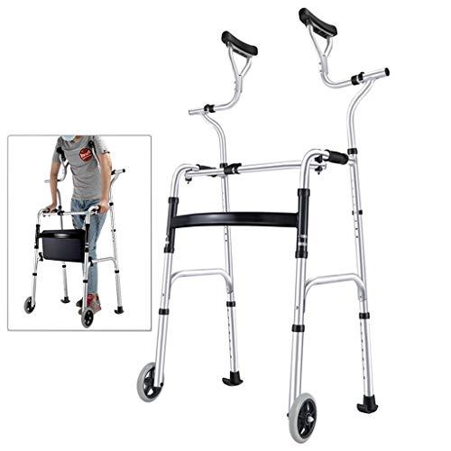 Aluminium Folding Laufgestell, Gehen Mobilitätshilfe mit Unterarmstütze und Sitz, Rollator, Lower Limb Trainer, Spaziergänger Krücken