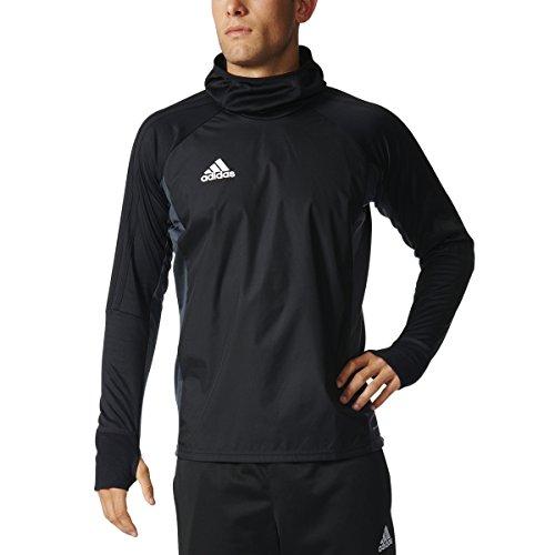 adidas Tiro 17 Mens Soccer Warm Top XS Black/Dark Grey/White