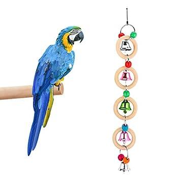 FayTun Jouet coloré à mâcher pour cage à oiseaux, perroquets, cacatoès, conures, aras, etc