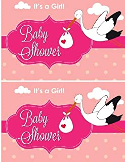 It's a Girl Baby Shower Guest Book: Baby Shower Guest Book Sign In/Guest Registry with Gift Log, Free Layout  Message For ...