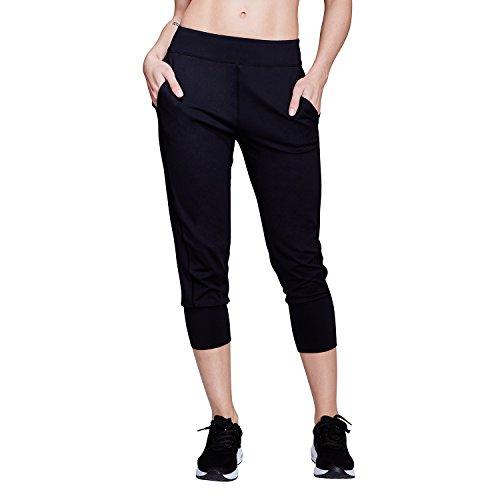 Matymats Damen Sport Capris Harem Jogginghose Workout Gym Active Hose mit Taschen