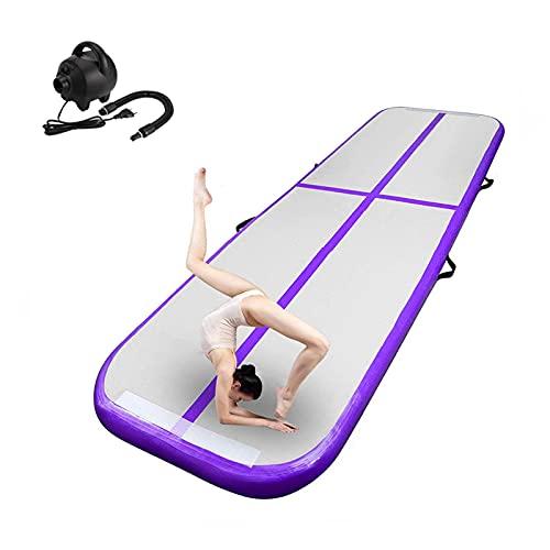 FBSPORT Airtrack de Gymnastique, 3M Tapis de Tumbling Gonflable, Tapis de Gym Gonflable, Piste d'air avec Pompe