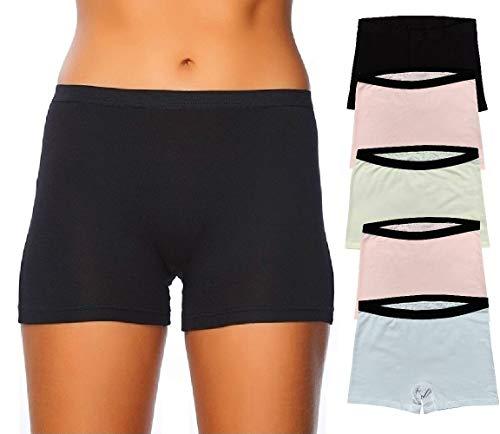 EVARI-Womens-Boyshort-Panties-Comfortable-Cotton-Underwear-Pack-of-5-OR-Pack-of-2-OR-Pack-of-3