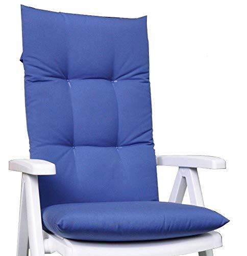 Kettler Dessin 907 - Cuscino per sedia da giardino, 120 x 50 x 6 cm, colore: Blu