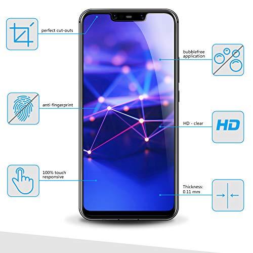 Bigmeda Schutzfolie für Huawei Mate 20 Lite,Blasenfrei, Anti-Kratzen, Anti-Öl, HD Klar Flexible Displayschutzfolie für Huawei Mate 20 Lite Folie [3 Stück] - 2