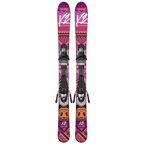 K2 Mädchen Luv Bug Kinder Ski - Marker Fastrak2 7 Bindung 1050807 - Rosa - 100 cm