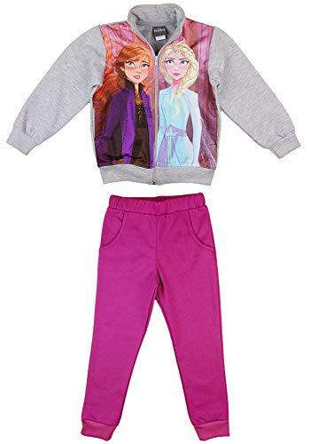 Disney Frozen Eiskönigin Mädchen Jogging-Freizeit-Sport WARM Baumwolle Reissverschlussjacke Freizeithose 104 110 116 122 128 134 Anna und ELSA Farbe Modell 1, Größe 104