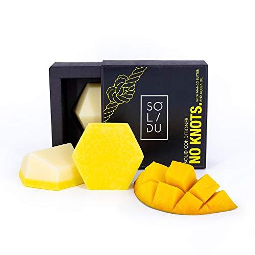 Festes Conditioner Bar für normales Haar - Premium Haarspülungsseife mit Mangobutter & Jojobaöl - Haarspülung Seife - handgemachte Conditionerseife - Zero Waste