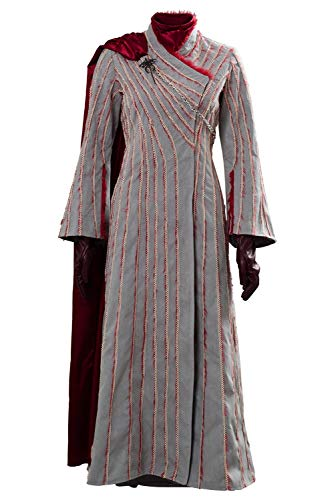 Cosplaysky Game of Thrones Costume Season 8 Daenerys Targaryen Snow Dress Halloween Outfit Large
