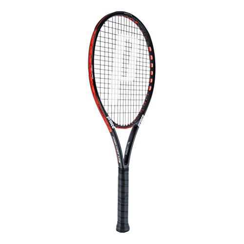 Prince Premier 105 - Racchetta da tennis, senza corda, colore nero, rosso