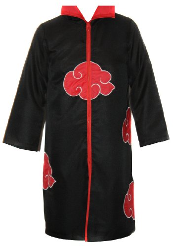 NARUTO COSPLAY Akatsuki MANTEL in Gr. XL Umhang ITACHI Deidara für Cosplay Karneval oder Kostüm Parties