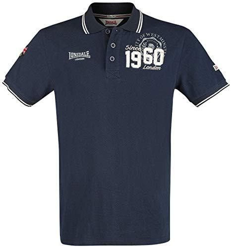 Lonsdale London Mens Fakenham Polo Shirt, Dark Navy, Extra Large