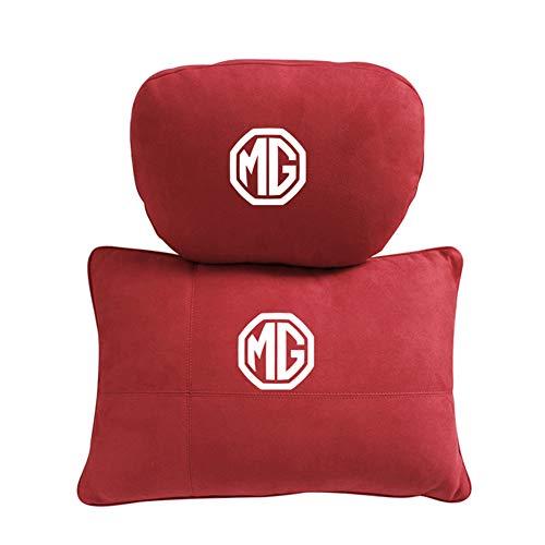 QIEP 2pcs Car Cervical Spine Neck Headrest Pillow Lumbar Cushion Accessories For Mg 3 5 6 7 Morris Gs Gt Mg350 Mg3sw Zs Garages Tf