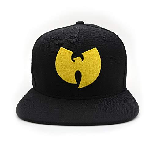 Wu Wear Snapback Cap, Wu Tang Clan Moda Callejera Urbana Gorra, Hip Hop, Hombres, negro Tamaño One size, Color Black