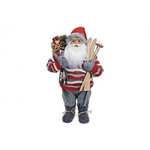 Bavaria-home-style-collection Père Noël Rouge/Gris en Plastique/Textile, env. Décoration de Noël 60 cm – Père Noël – Décoration de Noël – Advent – Décoration de l'Avent – Décoration de l'Avent