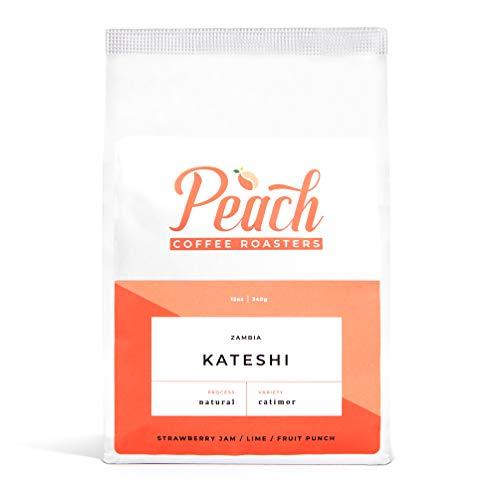 Peach Coffee Roasters - Medium Roast - Kateshi, Zambian Single-Origin Fair Trade Whole Coffee Beans - Catimor - 12 oz.
