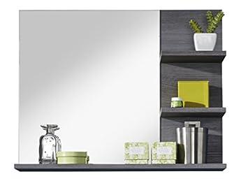 Foto di Furnline 1259-401-21 Miami-Specchio da bagno con mensola, in melamina, colore: argento cenere