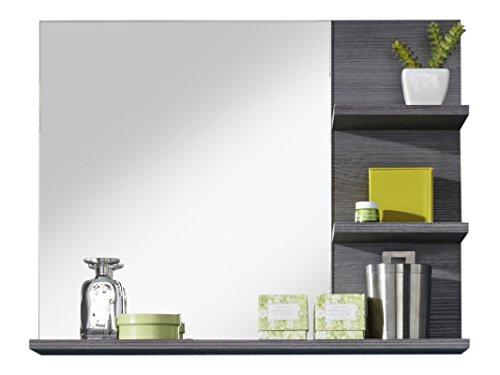 trendteam smart living Badezimmer Wandspiegel Spiegel Badezimmerspiegel Miami, 72 x 57 x 17 cm in Rauchsilber Dekor mit Ablagefläche