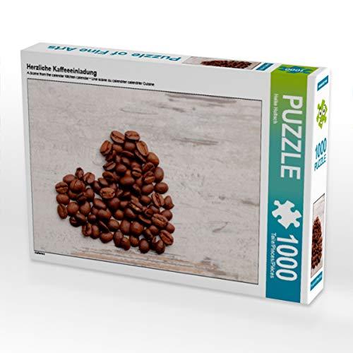 CALVENDO Puzzle Herzliche Kaffeeeinladung 1000 Teile Lege-Größe 64 x 48 cm Foto-Puzzle Bild von Heike Hultsch
