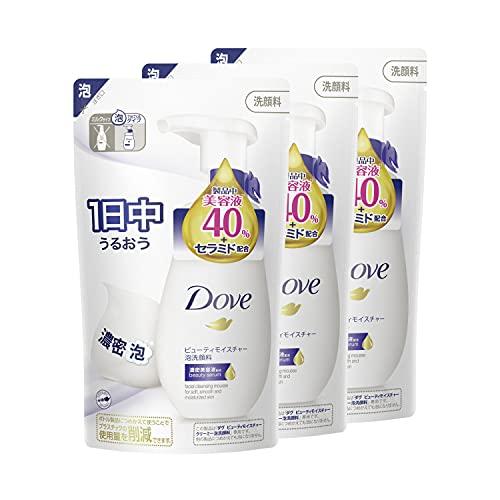 Dove(ダヴ) ビューティモイスチャー 乾燥 保湿 クリーミー泡洗顔料 詰替え用 140mL×3個 おまけ付き ホワイ...
