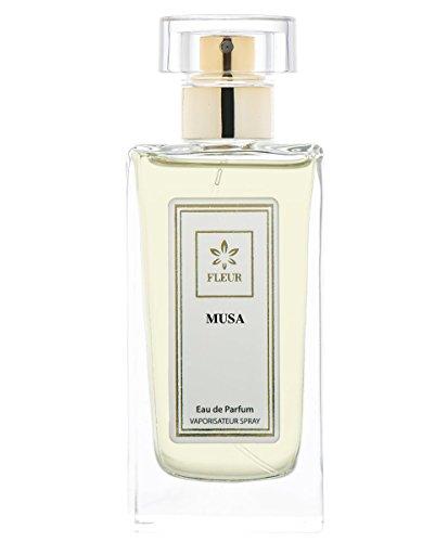 Musa Eau de Parfum pour Femme/Women , Mandarine-Cachemire-Jasmin Fragrance de Fleur Parfumerie , Vaporisateur/Spray, 1 x 50 ml
