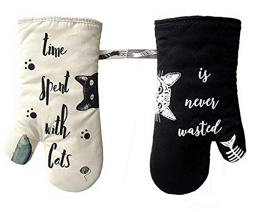 Oven Gloves ,Baked Glove, Anti scalding and Thickening Baking Gloves, Non-Slip Gloves, Kitchen Safe Cooking Gloves
