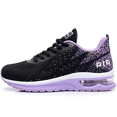 GANNOU Women's Air Athletic Running Shoes Fashion Sport Gym Jogging Tennis Fitness Sneaker Purple 7 B(M) US