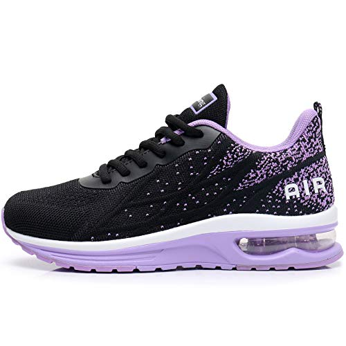 GANNOU Women's Air Athletic Running Shoes Fashion Sport Gym Jogging Tennis Fitness Sneaker Purple 8 B(M) US