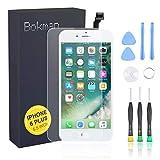 bokman Écran Tactile LCD pour iPhone 6 Plus Blanc, Vitre Tactile avec Kit de Réparation