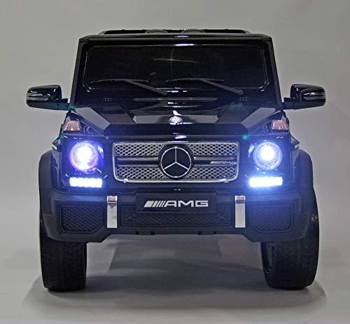 RC Kinderauto kaufen Kinderauto Bild 1: moleo Mercedes G65 AMG Kinder Auto Elektroauto Kinderauto Kinderfahrzeug Elektrofahrzeug mit LED-Beleuchtung, verschiedenen Sound- und Lichteffekten 2.4 GHz, Antrieb: 2X 45W Motor, (Black)*