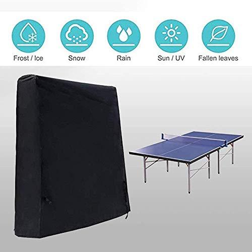 GWFVA dekzeil, multifunctioneel waterdicht tafeltennistafel, buiten/binnenplaats tuin stofdichte zonwering tafelklep, geschikt voor opklapbare tafeltennistafel - zwart