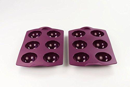 Tupperware stampo in silicone di cottura (2) Viola Ball palline di stampo muffin Easy Plus
