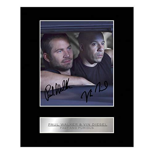 Foto Display Fast und Furious, von Paul Walker und Vin Diesel Signiert.