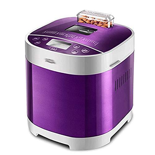 WZHZJ. Automatische Brotmaschine mit programmierbarem Brotbackautomat, Edelstahl - Brotbackautomat mit