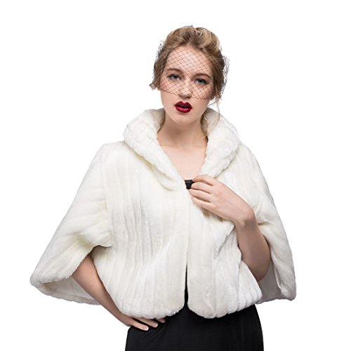 Shawls Wraps Capes For Women Bridal Wedding Party Evening Dresses Ivory