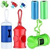 3 Pièces Distributeur de Sacs à Déchets pour Chiens avec Lumière LED Support de Sacs à Déchets pour Chiens Distributeur de Sacs à Déchets pour Chiens pour Promener le Chien (3 Styles)