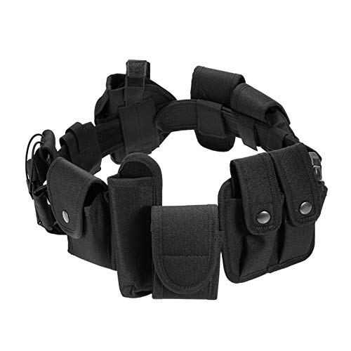 N \ A Cinturón de Trabajo táctico 10 en 1, Sistema de Equipo Modular, Utilidad de Seguridad, cinturón de Trabajo táctico con 9 componentes, Bolsas, Bolsas, Funda, Equipo para la aplicación de la Ley