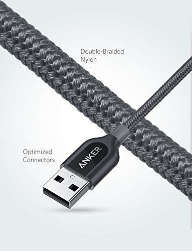 Anker [2-Pack] Powerline+ USB C Kabel auf USB A Kabel, 0.9m, für Galaxy S8, S8+, S9,S10, MacBook, Sony XZ, LG V20 G5 G6, HTC 10, Xiaomi 5 und mehr(Grau)