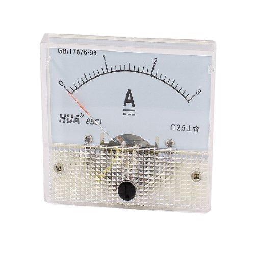 DealMux Class 2.5 DC 0-3A Rechteck Analog Amperemeter Anzeigeinstrument 85C1