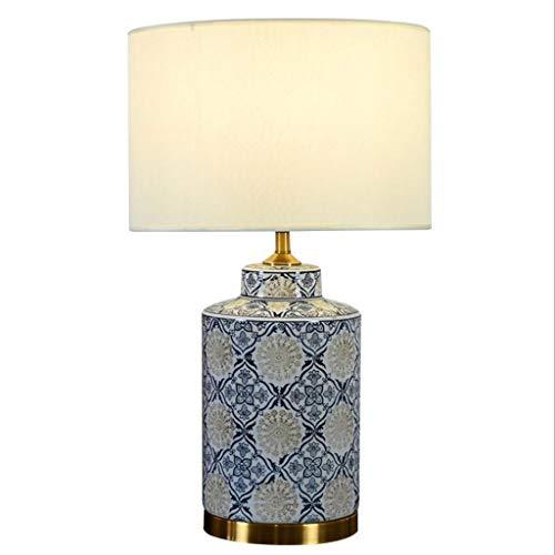 HNWNJ Lámpara de Mesa Sala de Estar Lámpara de mesilla Simple Lámpara de Mesa de Dormitorio Lámpara de Mesa de Estudio de cerámica