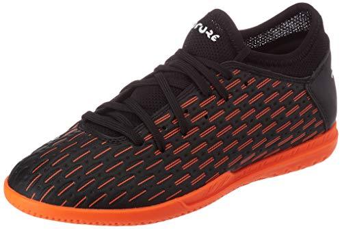 Puma Football Shoe, Black White Shocking Orange, 6.5 US Unisex Big Kid