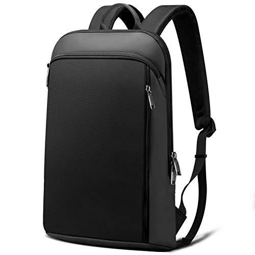 Super Sottile ed Espandibile Zaino Per Laptop Antifurto Borsa per PC di Grande Capacità 15 15,6 16 Pollici Borsa da Scuola per PC con USB, Regali per Uomo e Donna, (13L-24L) -Nero