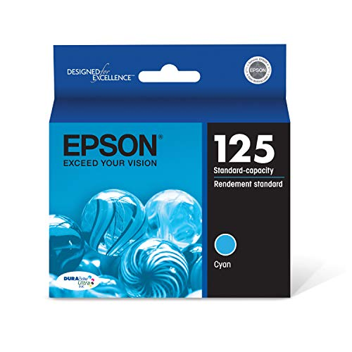 EPSON T125 DURABrite Ultra Ink Standard Capacity Cyan Cartridge (T125220-S) for select Epson Stylus and WorkForce Printers