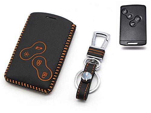 Happyit auto echt leer Smart Key Cover Case voor Renault Clio Scenic Megane Duster Sandero Captur Twingo Koleos 4 toetsen afstandsbediening