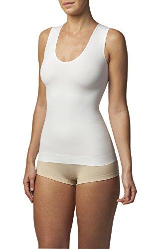 SLEEX Shapewear Figurformendes Damen Unterhemd (Racerback) (44043), Weiss, Groesse S/M - Body Shaper Damen