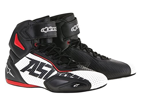 Alpinestars Faster 2 Vented Herren Motorradschuh Mikrofaser - schwarz Weiss rot Größe 47
