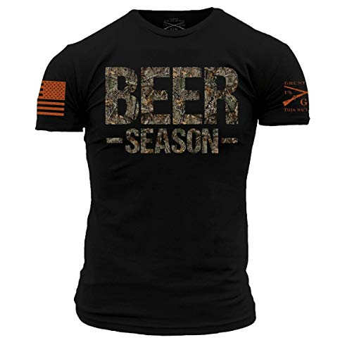 Grunt Style Realtree Edge- Beer Season Men's T-Shirt (Black, XX-Large)