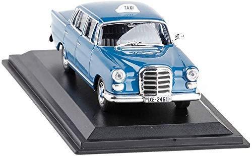 Car model 1/43 Mercedes 200D Athens1965 Griekenland Mercedes Taxi Classic Car Model (kleur: blauw) lili (Color : Blue)